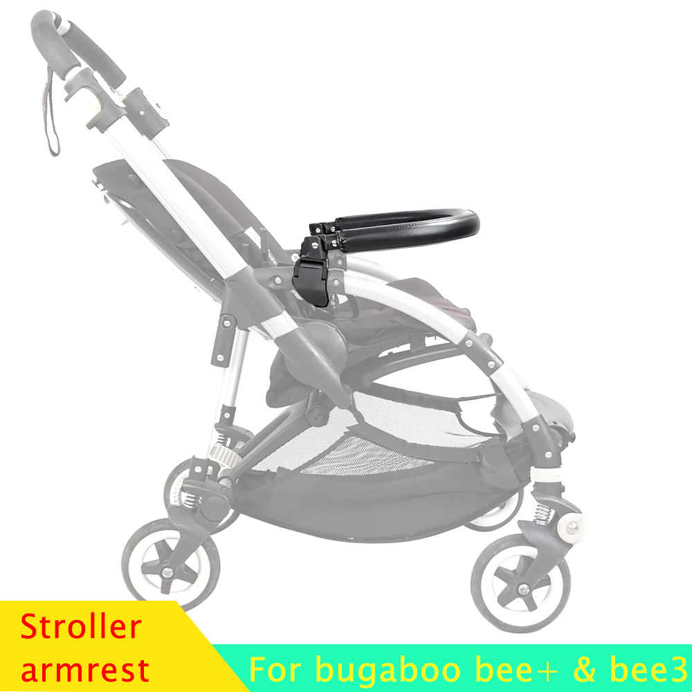 Wózek dziecięcy zderzak Bar PU skóra i tkanina Oxford podłokietnik dla Bugaboo Bee3 wózek poręcz akcesoria dla wózków dziecięcych