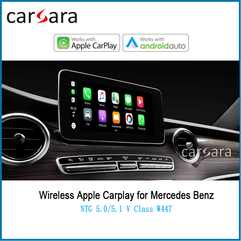 Wireless CarPlay Adapter for V Class <font><b>W447</b></font> NTG5.0 5.1 5.2 Support Smart Multimedia Screen <font><b>Android</b></font> Auto Maps image