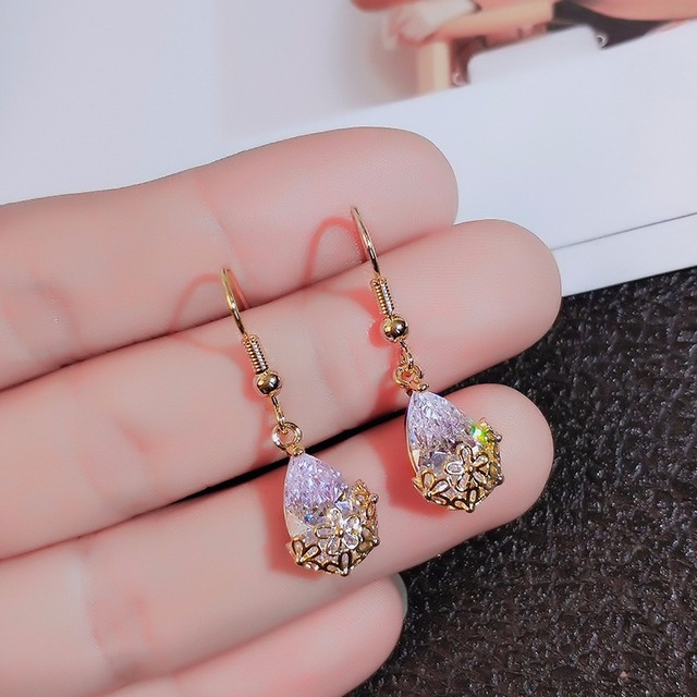 Zircon Geometric Dangle Earrings for Women Bijoux Exquisite Water Drop Crystal Earrings Statement Earrings Jewelry Gifts.jpg 640x640 - Zircon Geometric Dangle Earrings for Women Bijoux Exquisite Water Drop Crystal Earrings Statement Earrings Jewelry Gifts