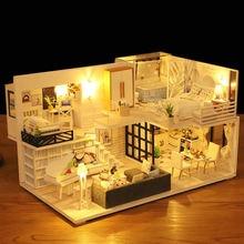Новый кукольный дом мебель деревянные игрушки домик «сделай