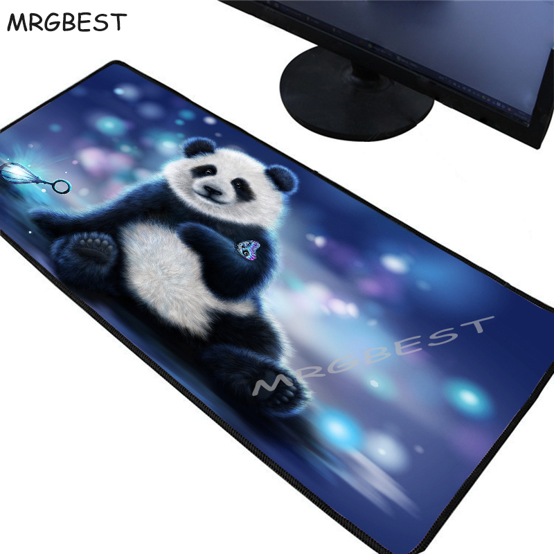 MRGBEST Free Shipping Big Promotion Anime Mouse Pad Locking Edge Large Game Cute Panda Mouse Pad for Laptop Notbook for Legends