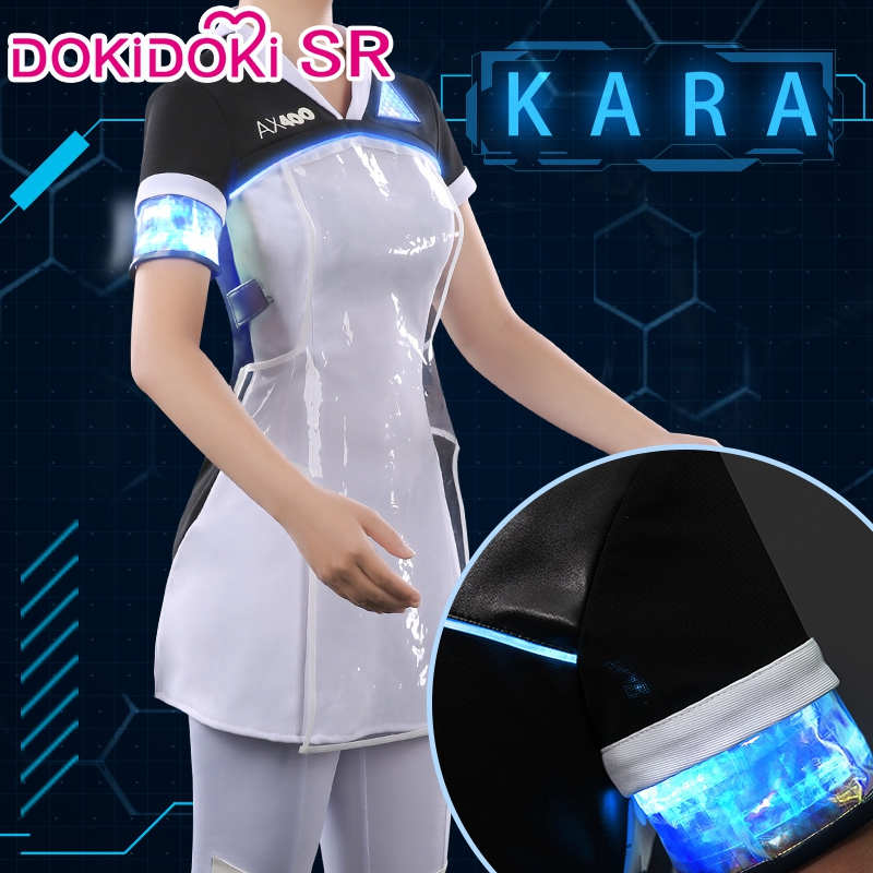 Dokidoki-SR Movie Cosplay Detroit: Become Human  Kara Cosplay Costume Dress Unifrom Tight Outfit  Detroit: Become Human Kara