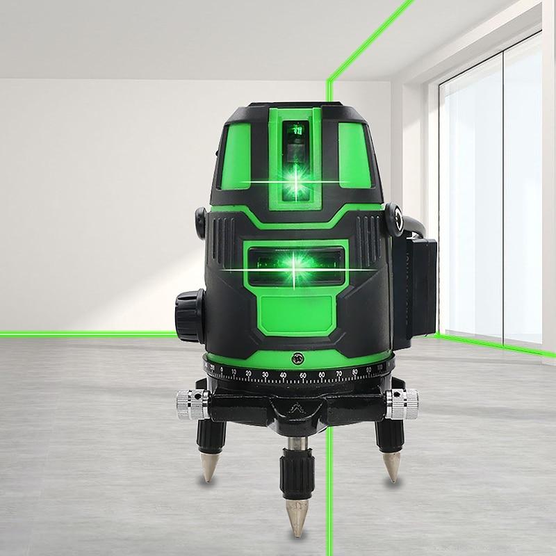 Cross Lines Laser Level 360 Self-Leveling 2/3/5 Lines Green Laser Leveler 635nm Horizontal Vertical Cross Line Indoor Outdoor