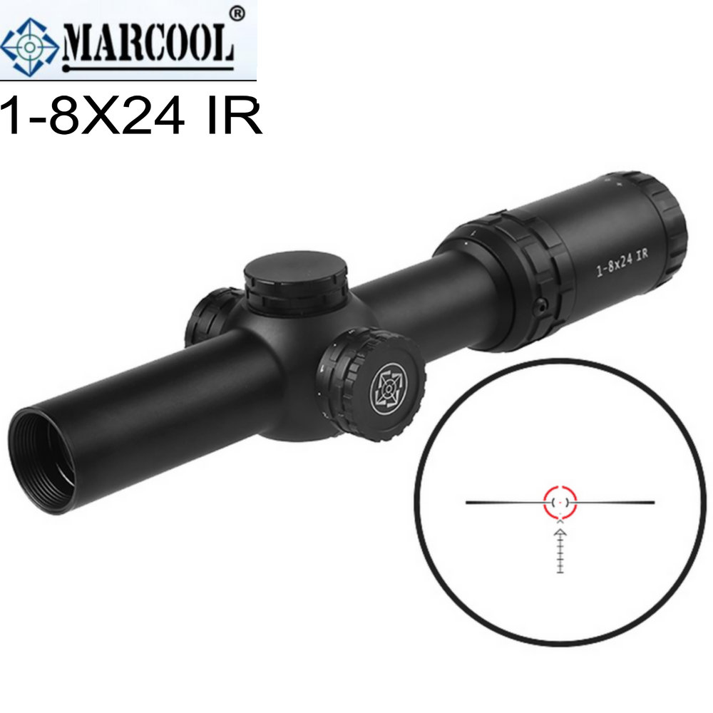 MARCOOL 1-8X24 IG RIFLESCOPE red illumination second forcal plane SFR Tactical Collimator sight Rifle scope Grid airsoft rifle