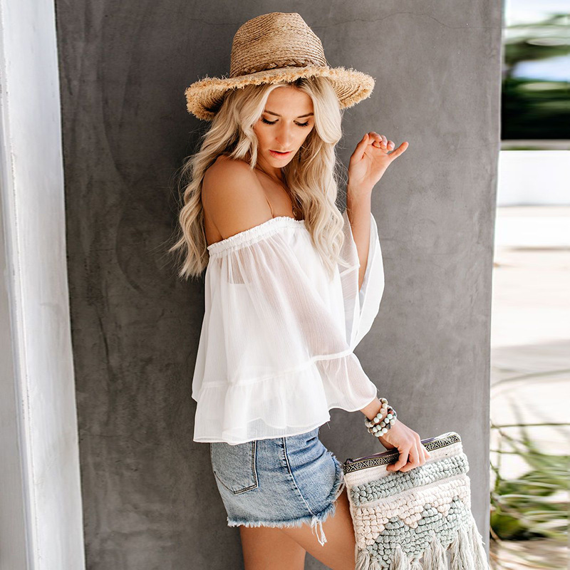 women shirts harajuku tops korean white blouse woman clothes 2020 fashion womens clothing plus size top vintage flare sleeve
