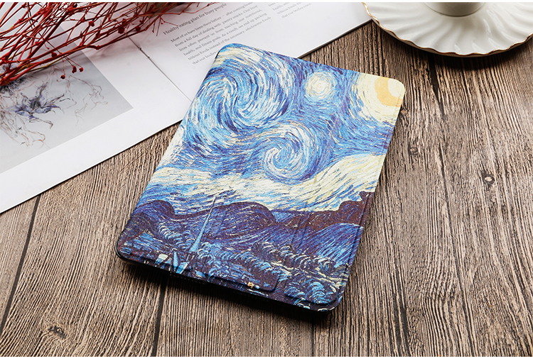 inch QIJUN Case iPad Painted iPad leather Cover For Gen Stand PU For 2020 8th 10.2 Flip