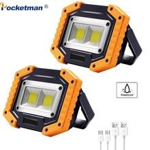 100W 80000lm Led Portable Spotlight COB Super Bright Led Work Light Flood Lights USB Rechargeable for 18650 Emergency Lantern