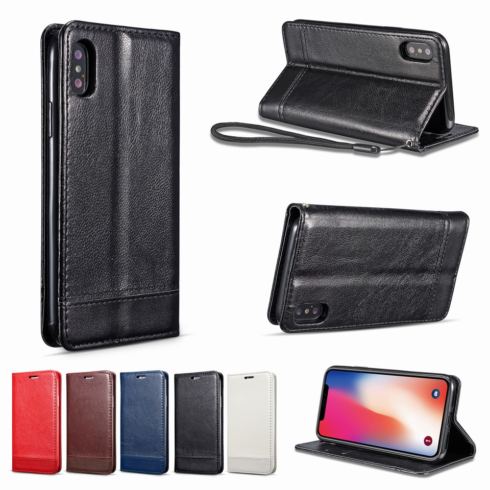 Flip Cover for iPhone X XR XS Case Leather Magnetic Max on iphone Wallet Phone Shell Coque