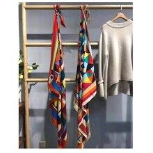 Mulheres Inverno Lenços de Impressão de Moda de Seda Cashmere Envoltórios do Lenço Xale