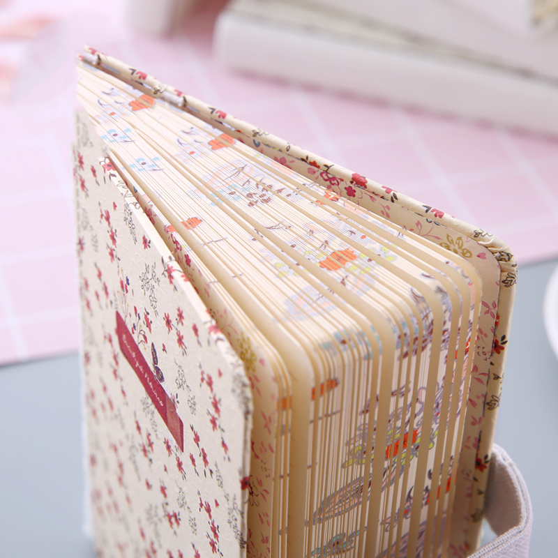 New Arrival A6 Creativity Floral Flower Notebook Diary Weekly Planner Girl Notebook Hand Account School Office Supply Stationery