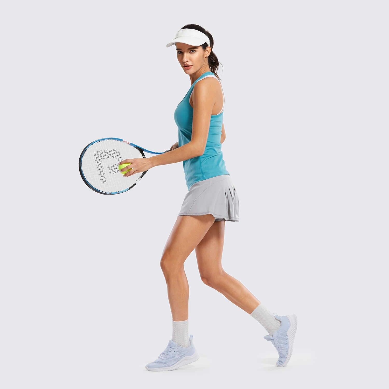SYROKAN GA frauen Athletisch Tennis Golf Röcke Plissee Shorts Sport Skort mit Tasche