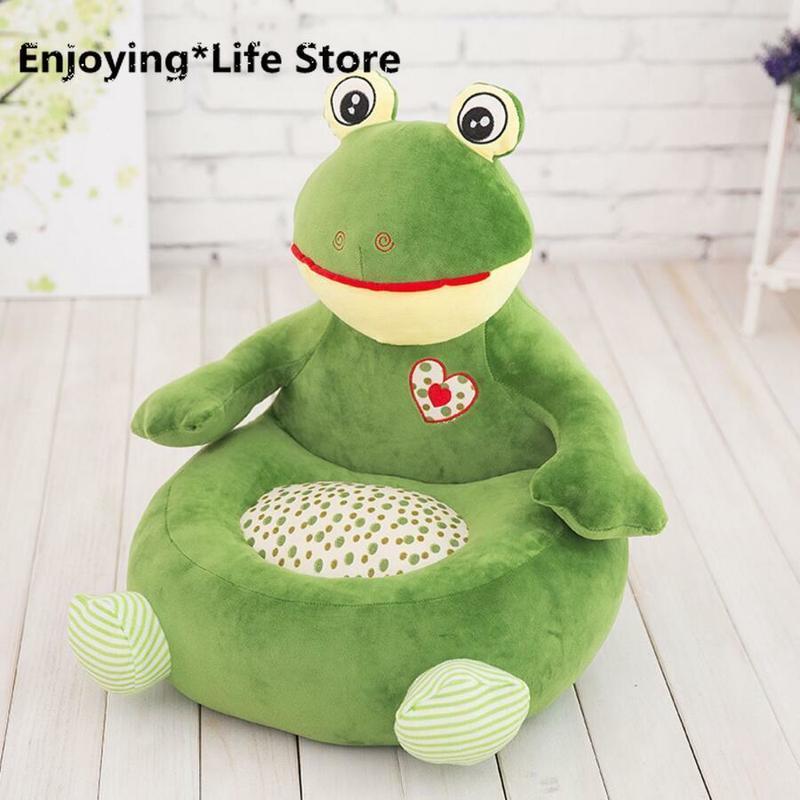 Детский диван, мягкая подушка в виде животного, мягкая игрушка, кукольные стулья для детского сада, напольная подушка, подушка для стула, под... - 5