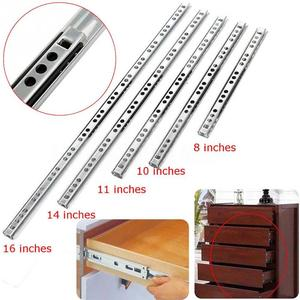 Stainless Steel Drawer Slides Ball Bearing Drawer Runners Slides Steel Three-Section Extension sizes 8/10/11/14/16in for Cabinet(China)