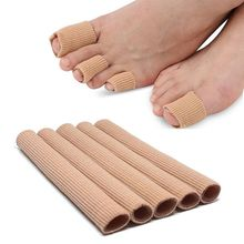 Tkanina palec u nogi Protector Separator aplikator Pedicure kukurydza skrobaczka do pięt ręka ulga w bólu miękka rura silikonowa narzędzie do pielęgnacji stóp tanie tanio other CN (pochodzenie) 1 5*15cm(S) 2*15cm(M) 2 5*15cm(L) Brak elektryczne Finger Protector silicone Toe Separator Callus Corrector