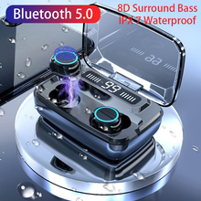 TWS Blutooth Earphones Wireless Earbuds with Touch Control 8D Sound Stereo Sport