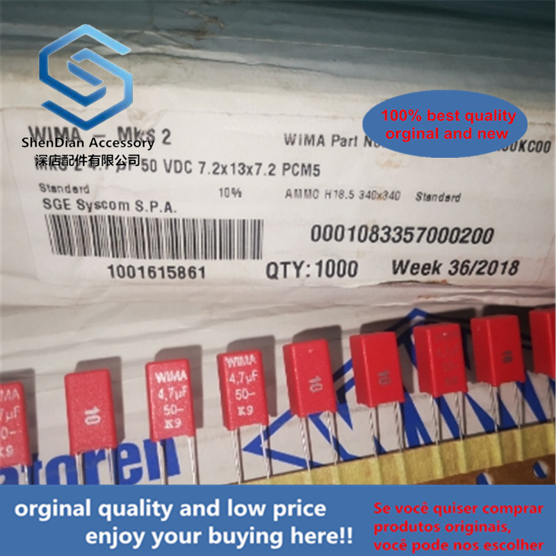 11-30pcs 100% Orginal New 4.7UF 50V Original German Film Capacitor 50V4.7UF 475 MKS2 P5