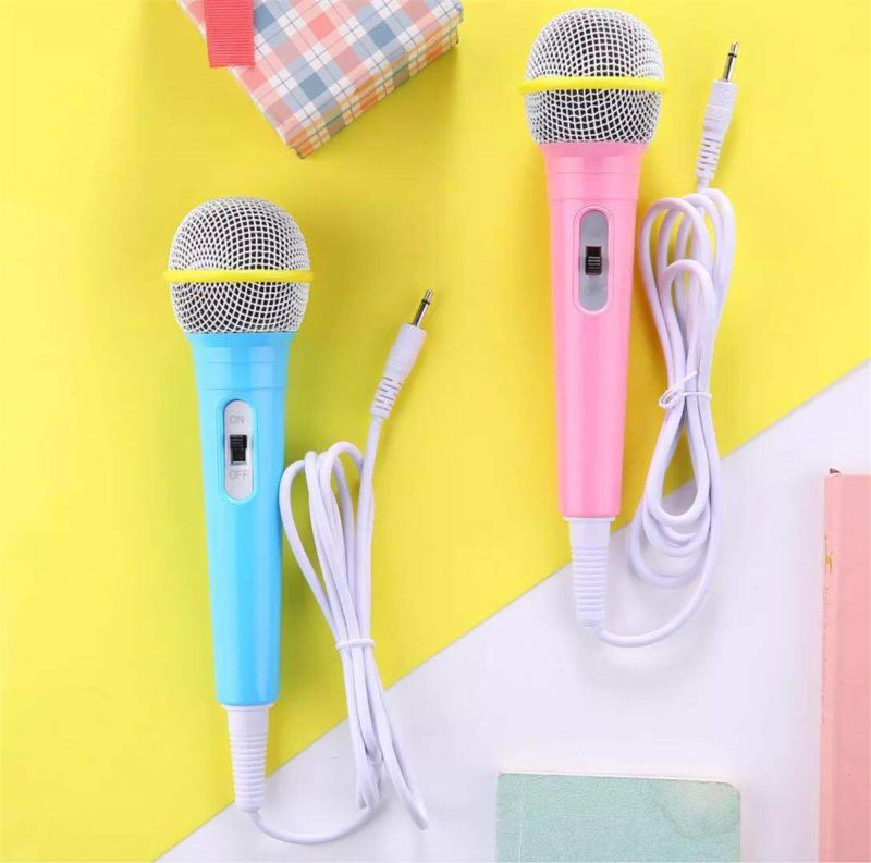 Children Wired Microphone Toy Musical Instrument Singing Karaoke For Learning Machine Computer Car Hi-fi Equipment
