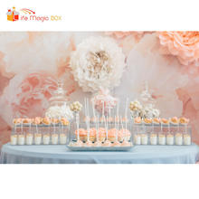 LIFE MAGIC BOX Wedding Big Flowers Photobooth Candy Bar Photography Backdrops for Photo Studio Backgrounds(China)