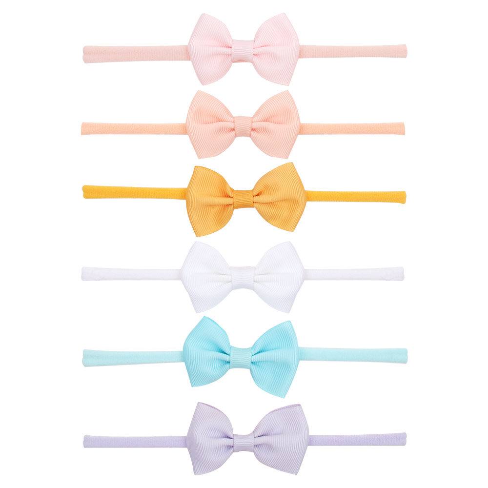 Ribbon Baby Headband Bow Baby Headbands For Newborn Girls Knot Infant Baby Headband Nylon Elastic Fashion Hair Accessories