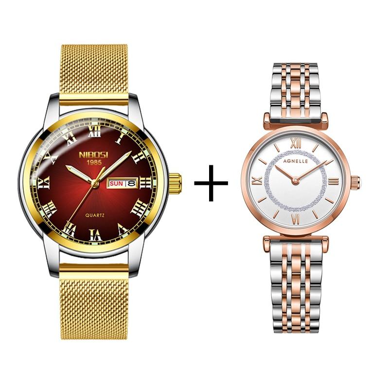 NIBOSI Brand Luxury Women Watches Simple Style Reloj Mujer Fashion Wrist Watch For Female Leather Quartz Watch Montre Femme