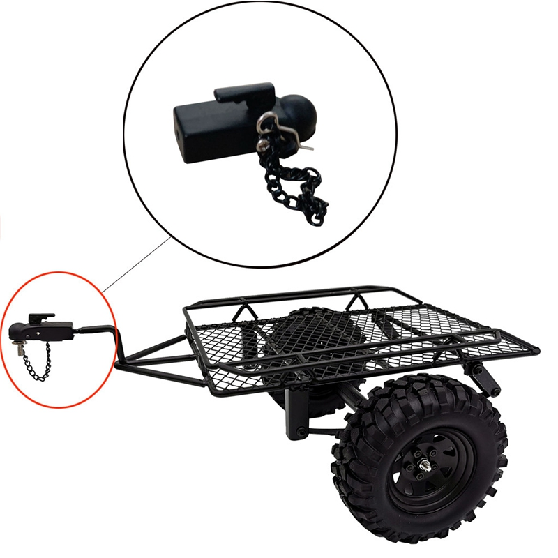 Metal Hitch Trailer Hook For SCX10 90046 Traxxas TRX4 1/10 RC Crawler Car Remote Control Car Children's Toy Model For Baby Kid