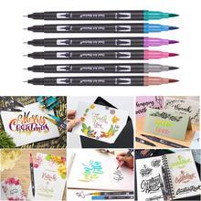 Fineliner Watercolor Brush Markers Dual Tip Drawing for Manga 12 24 36 48 60 72 100 120 Colors Watercolor Brush Pen Markers