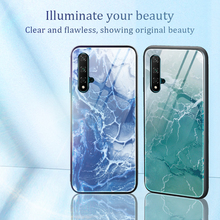 Colorful marble glass case for Huawei No