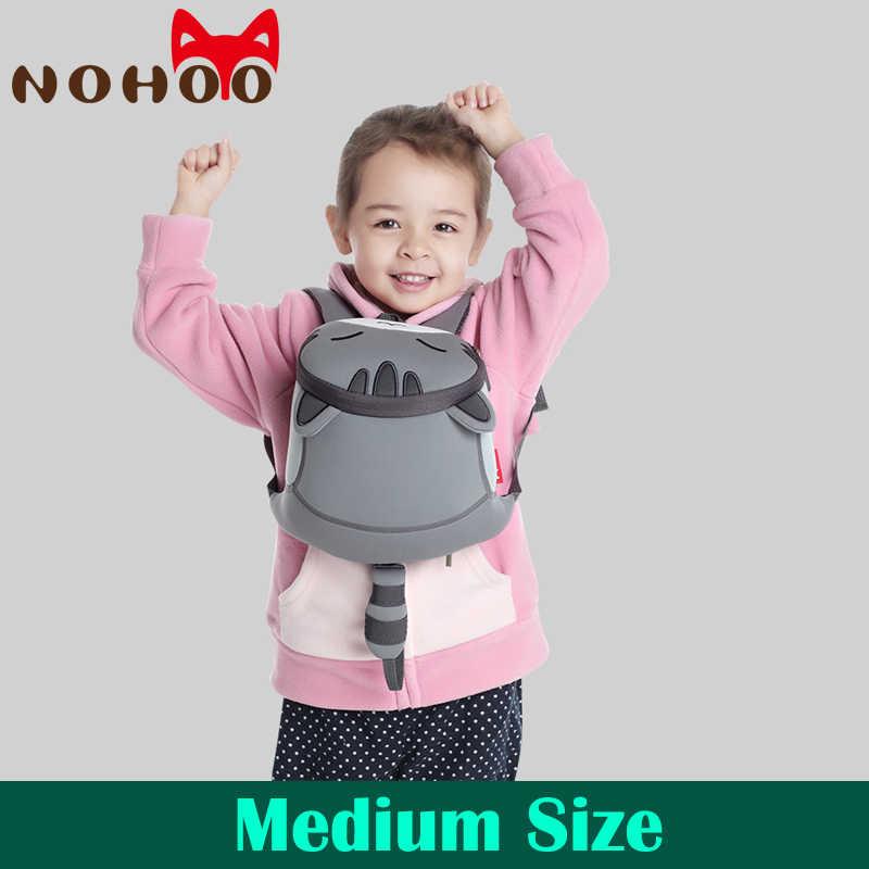 NOHOO/Детские рюкзаки для малышей с поводком для безопасности; детские школьные сумки с объемными рисунками животных; рюкзак для малышей с защитой от потери; рюкзак для мальчиков и девочек