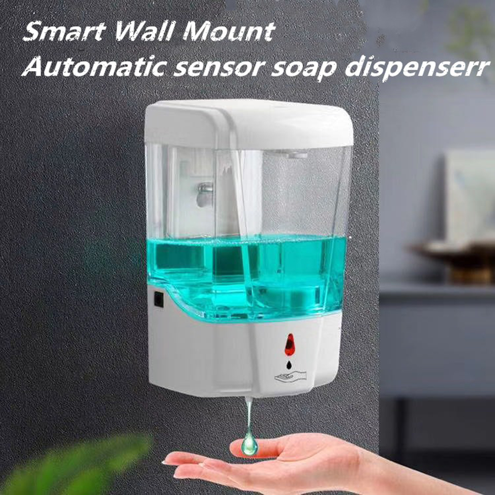 700ml Auto Liquid Soap Dispenser Wall Mounted Sensor Hand Washing Container Bathroom Accessories Hand Sanatizer 1