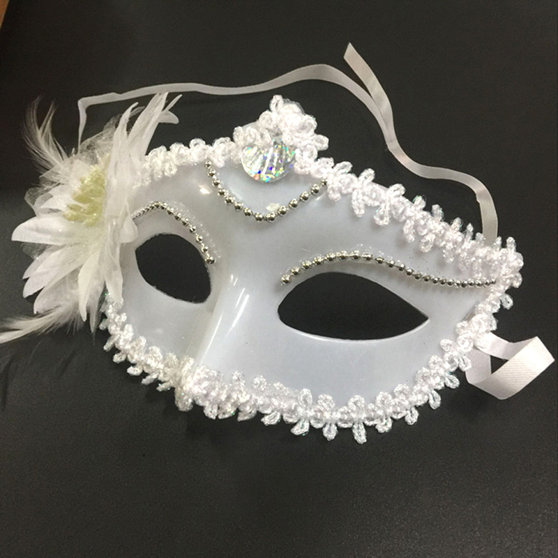 Hot Sexy Women Masquerade Plastic Flower Mask For Festival Party Prom Mardi Gras IE998