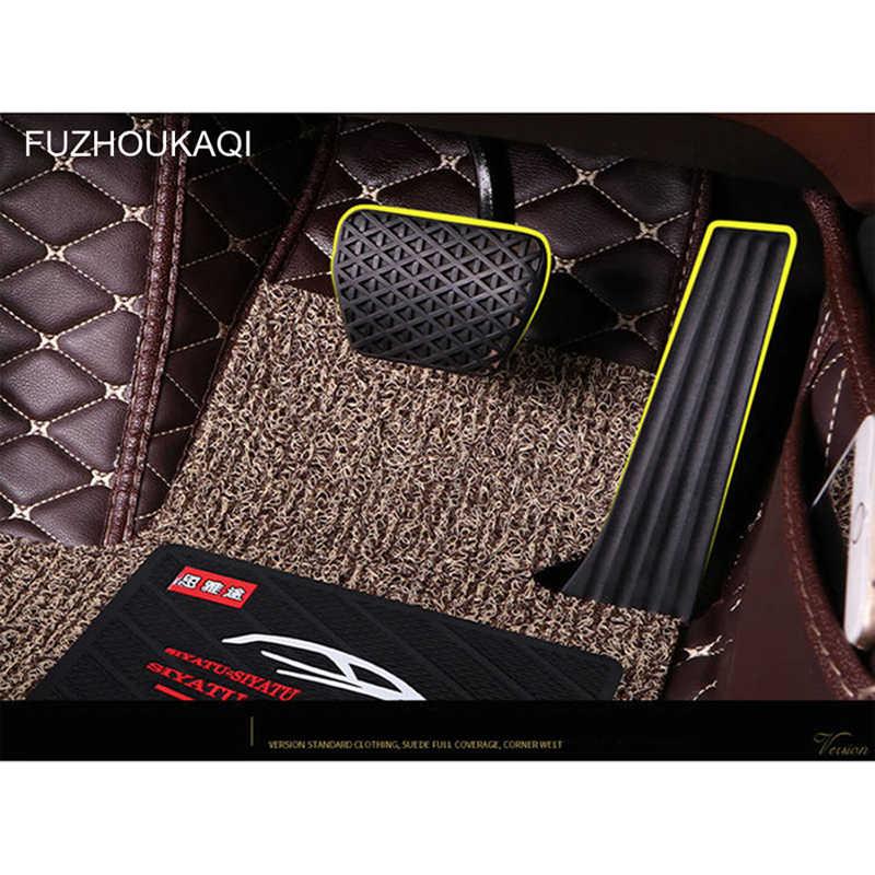 カスタム車のフロアマット 2 重層足マットルノーすべてモデル緯度フルエンス kadjar captur Captur Laguna Megane 車スタイリング