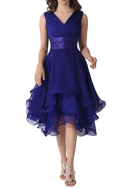 Tulle  A Line V Neck Pleat Knee Length Bridesmaid Dresses Wedding Party Dresses  Robe De Soiree Lace Up