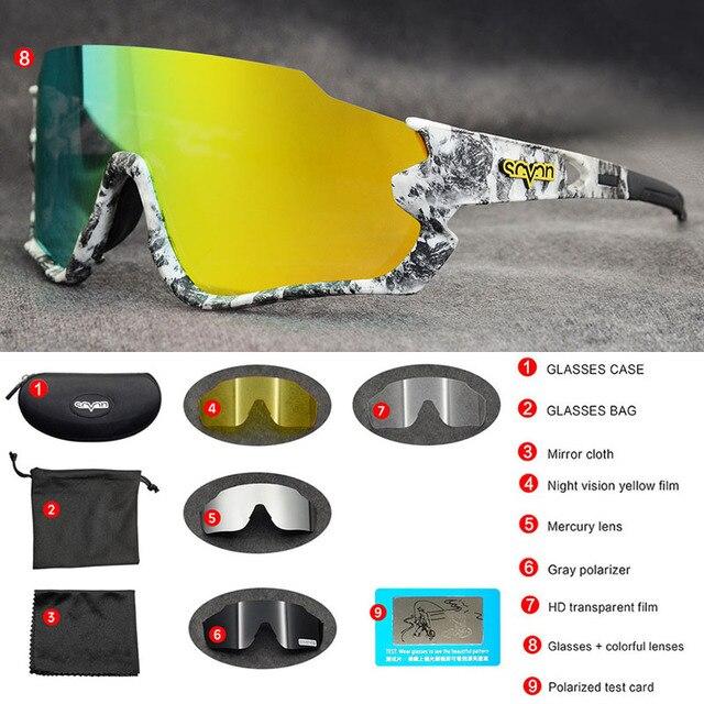 Polarizado óculos de ciclismo homem esporte óculos de sol photochromic uv400 5 lente deportivas polarizadas hombre gafas oculos ciclismo 3