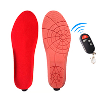 Unisex 1800mAh Electric Heating Insoles Foot Warmer with Wireless Remote Control Heated Insoles for Skiing Hiking Camping