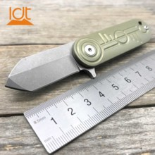 LDT ECG Folding Knife D2 Blade Titanium Handle bearing  outdoor Camping Survival Hunting Knives Pocket  Tactical Knife EDC Tools