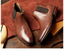 Man Shoes Chelsea Boots 2020 Bootie  Men Zapatos Hombre High Quality Streetwear Dress