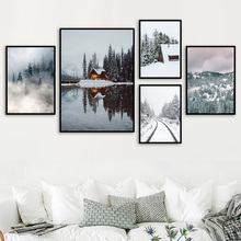 Forest Landscape Canvas Painting Nordic Scenery Poster And Prints Wall Art Picture For Living Room Bedroom Decoration Home Decor canvas painting primeval forest landscape wall artposter and print modern home decoration wall picture living room office decor