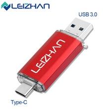 Clé Flash USB 3.0 Type C, clé USB 512, 256, 128, 64, 32, 16 go, mémoire OTG, pour ordinateur et téléphone