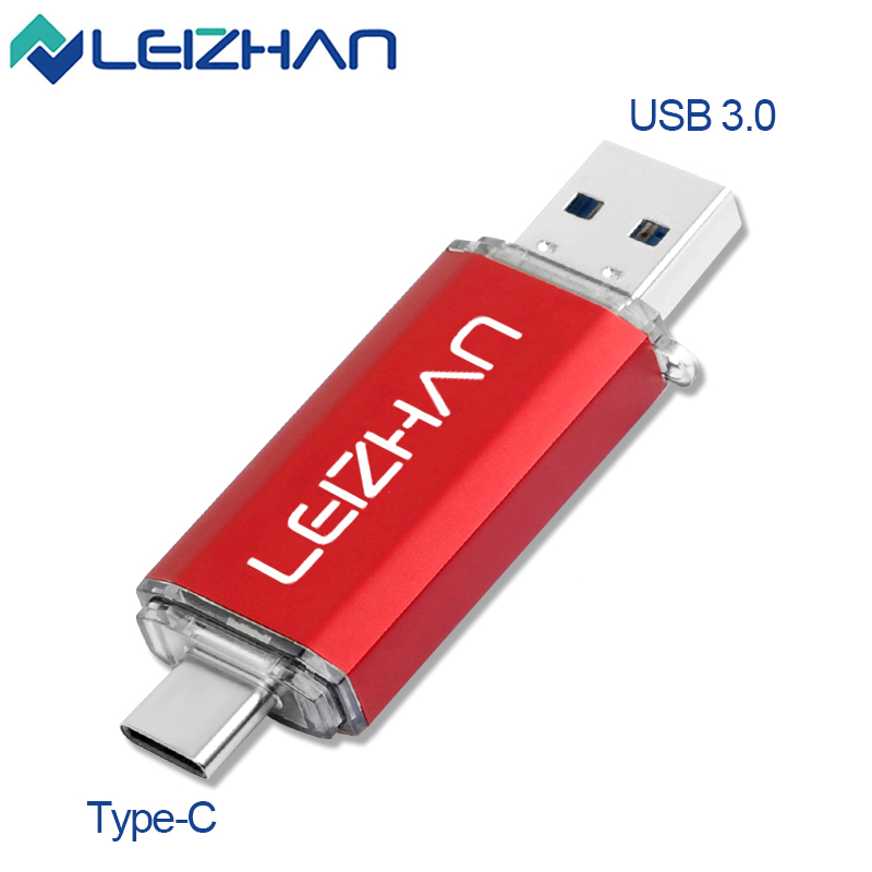 NEW <font><b>USB</b></font> <font><b>3.0</b></font> Flash Drive Type C Pen Drive Pendrive <font><b>512</b></font> 256 128 64 32 16 <font><b>GB</b></font> OTG Memory Photo Stick For Computer/Phone image