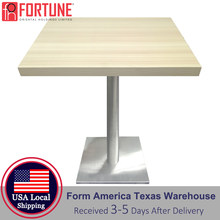 24x24 Dining Table Top Commercial Furniture 2 People Square Coffee Table Top Dining Table Top Sets USA Local Shipping Wholesale(China)
