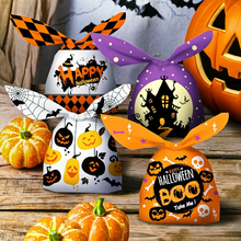 Hot-selling Halloween Storage Bags 50 14cm*23cm Rabbit Ear Packaging Bags Holiday Party Creative Gift Bags Children's Candy Bags