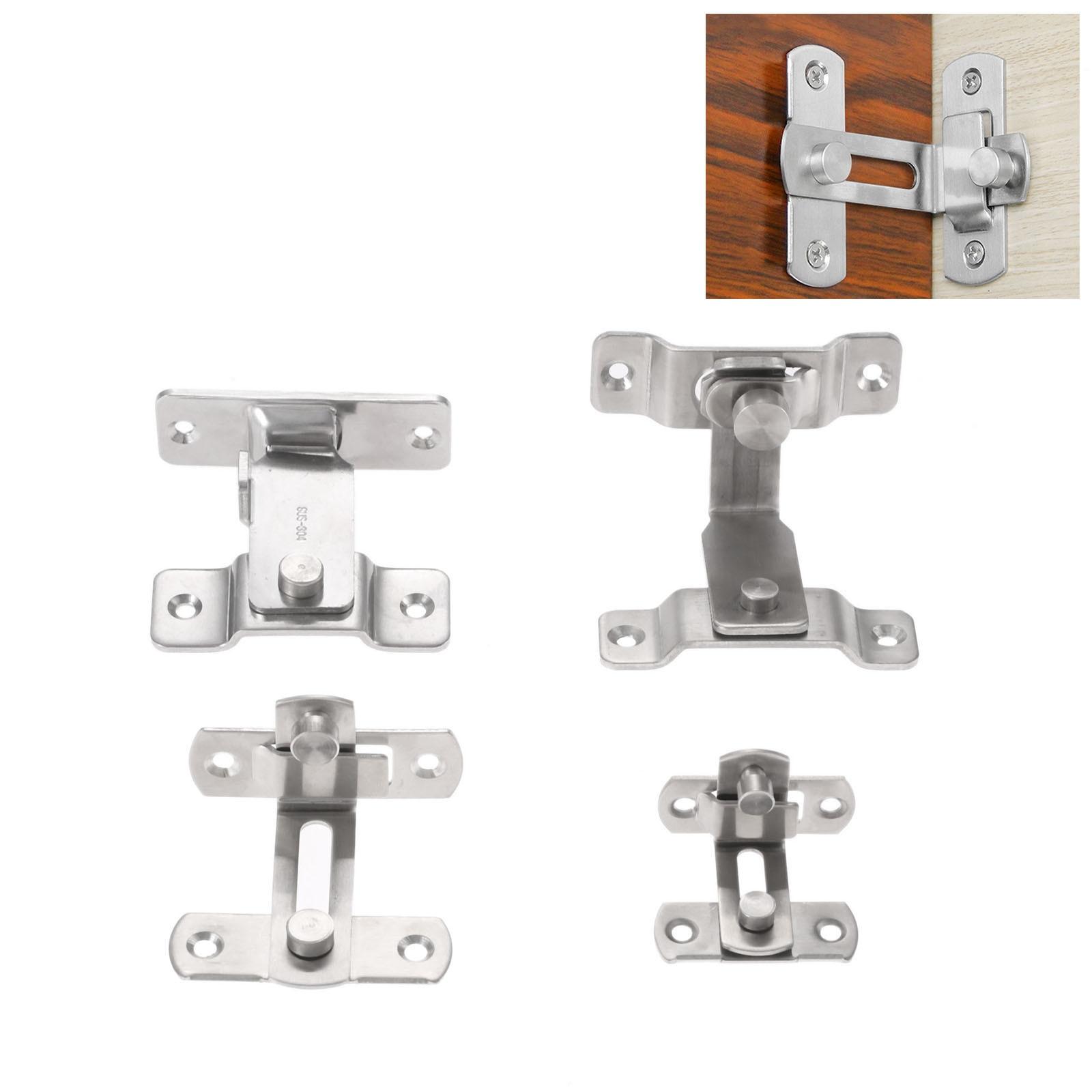 90 Degree Stainless Steel Door Buckle Bolt Barn Door Lock Hook Right Angle Bending Latch Hasp Anti-theft Safety Door Hardware