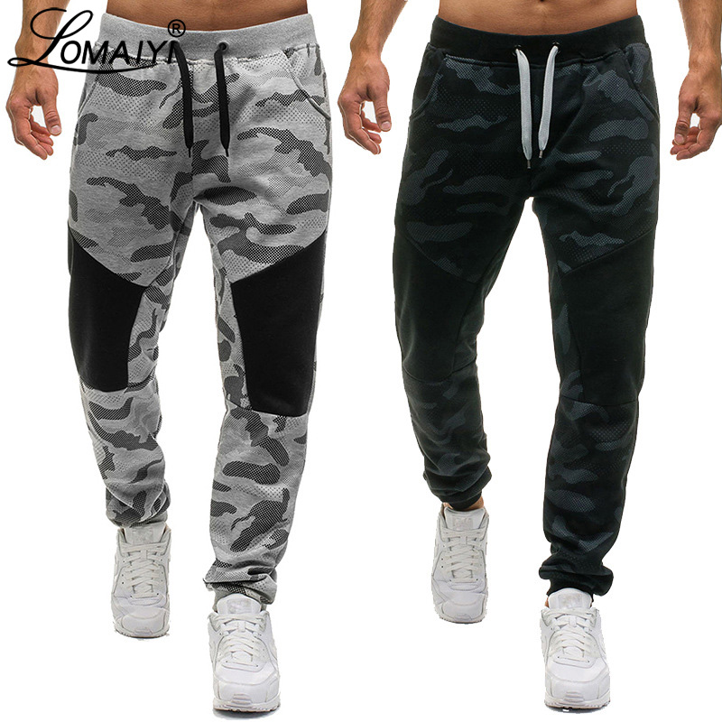 LOMAIYI Men's Sweatpants Men Camo Jogger Pants Spring Harem Trousers Camouflage Joggers Male Track Pants Mens Sweat Pants BM313