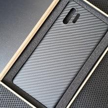 ENMOV Real Carbon Fiber Case Shockproof for Samsung Galaxy Note10 Matte Carbon F