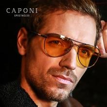 CAPONI 남성용 클래식 선글라스 Photochromic Day And Night 운전 노란색 안경 Polit Fishing 남성용 Sun Glasses BSYS3104