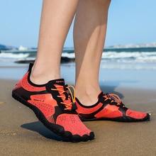 Unisex büyük boy su ayakkabısı Aqua plaj ayakkabısı hızlı kuru yukarı çıplak ayakkabı açık ayakkabı yüzme spor dalış ayakkabı