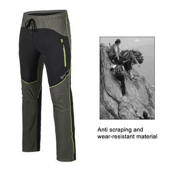 Męskie spodnie do wędrówek pieszych lato Outdoor Sport oddychające tysięczne szybkie suche Camping wędkarstwo wodoodporne górskie spodnie trekkingowe tanie i dobre opinie Full Length Mężczyźni spandex Camping Hiking Nylon Drawstring Fits true to size take y Windbloc #1418