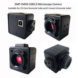 Image 2 - 5MP CMOS USB مجهر كاميرا الرقمية الإلكترونية العدسة سائق حر HD كاميرا صناعية للمجهر مجهر ثلاثي العينيات
