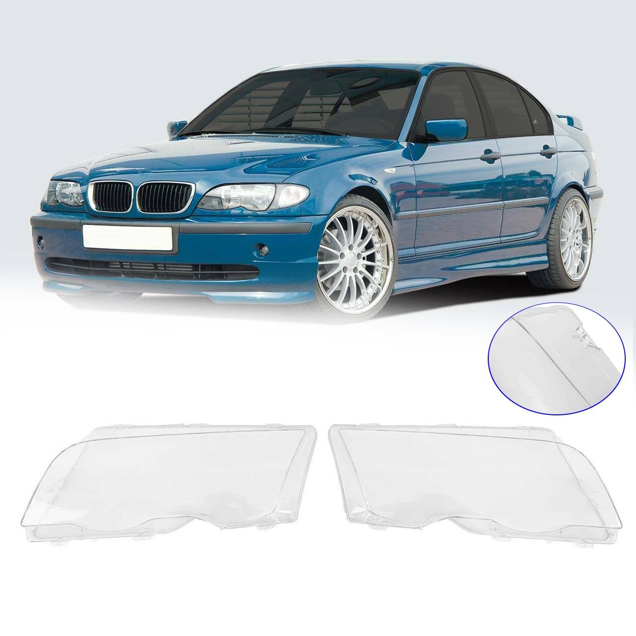 Samger Car Headlight Glass Cover Auto Headlamp Head Light Lens For BMW E46 3-series Limo Touring 98-01 Clear Transparent