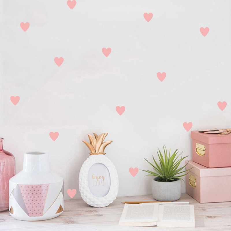 Baby Heart Wall Sticker For Kids Room Baby Girl Room Decorative Stickers Nursery Bedroom Kids Wall Stickers Home Decoration